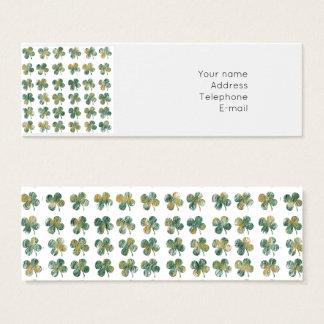 Lucky clover mini business card
