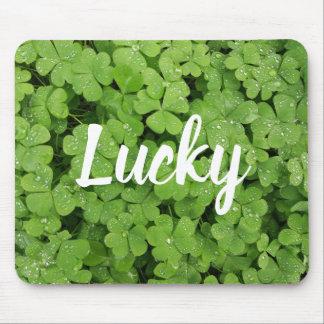 Lucky clover nature mousepad