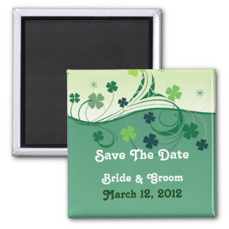 Lucky Clover Save The Date Magnet