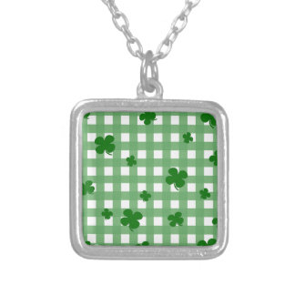 Lucky clover silver plated necklace