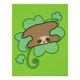 Lucky Clover Sloth Letterhead