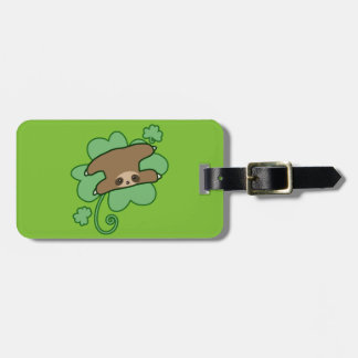 Lucky Clover Sloth Luggage Tag