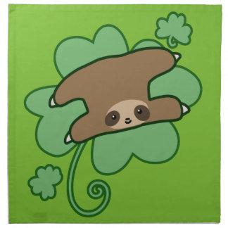 Lucky Clover Sloth Napkin