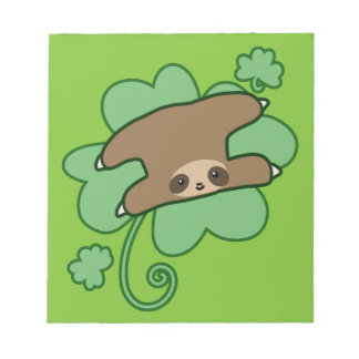 Lucky Clover Sloth Notepad