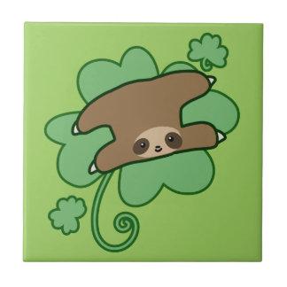 Lucky Clover Sloth Tile