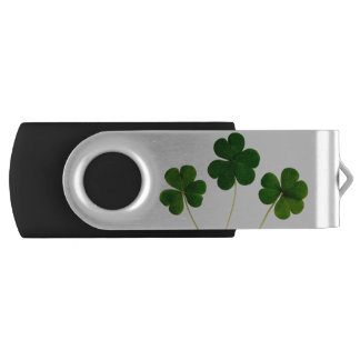lucky clover swivel USB 2.0 flash drive