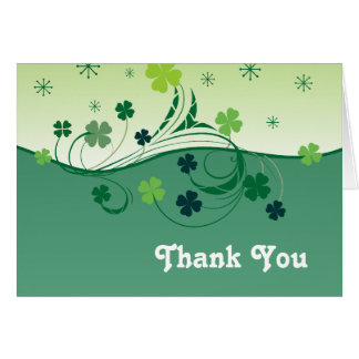 Lucky Clover Thank You card