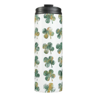 Lucky clover thermal tumbler