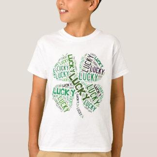 Lucky Clover Word Art T-Shirt