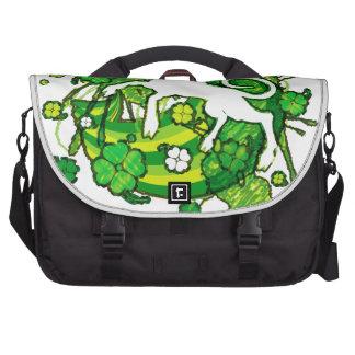 Lucky_Clovers Laptop Bags