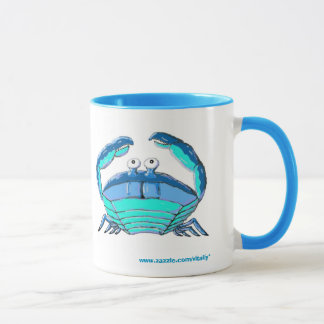 Lucky crab horoscope sign mug