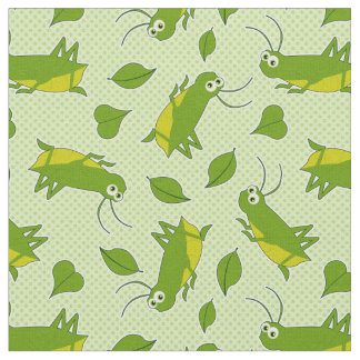 Lucky Cricket Pattern Fabric