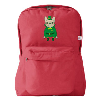 Lucky Cute Frenchie on St. Patrick's Day Backpack