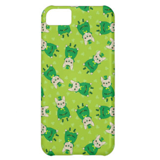 Lucky Cute Frenchie on St. Patrick's Day Cover For iPhone 5C