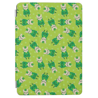 Lucky Cute Frenchie on St. Patrick's Day iPad Air Cover