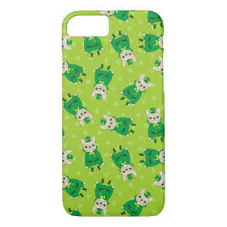 Lucky Cute Frenchie on St. Patrick's Day iPhone 8/7 Case