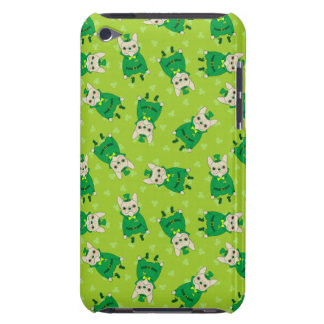 Lucky Cute Frenchie on St. Patrick's Day iPod Touch Case-Mate Case
