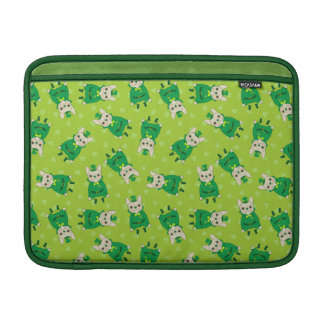 Lucky Cute Frenchie on St. Patrick's Day MacBook Sleeve