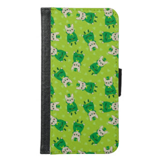 Lucky Cute Frenchie on St. Patrick's Day Samsung Galaxy S6 Wallet Case