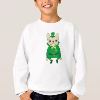 Lucky Cute Frenchie on St. Patrick's Day Sweatshirt