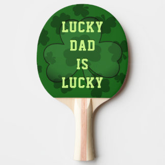 Lucky Dad is Lucky Custom Ping Pong Paddle