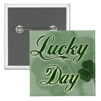 Lucky-Day 2 Inch Square Button