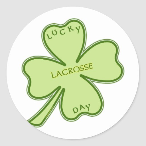 Lucky Day Lacrosse Round Stickers