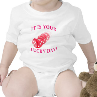 Lucky day with dice roll tee shirts