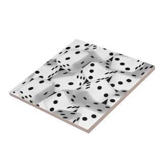 Lucky dice ceramic tiles