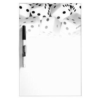 Lucky dice dry erase board