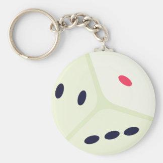 Lucky Dice Emoji Keychain
