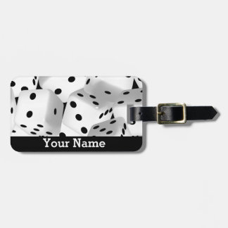 Lucky dice luggage tag