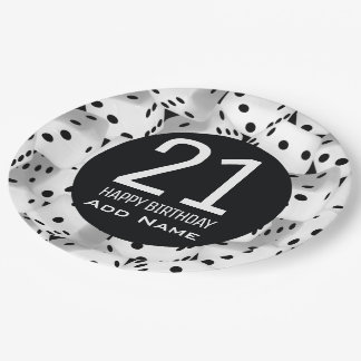 Lucky dice paper plate