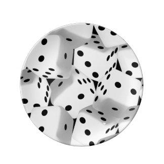 Lucky dice plate