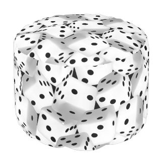 Lucky dice pouf