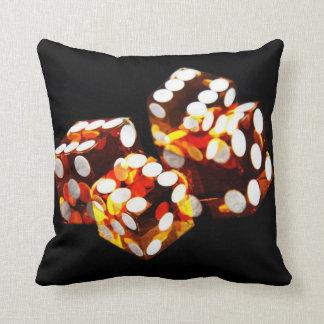 lucky dice roll - toss pillow