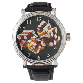 lucky dice roll wristwatch