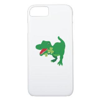 Lucky Dinosaur Shamrocks Kids St. Patrick's Day iPhone 8/7 Case