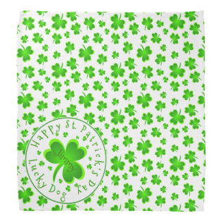 Lucky Dog St. Patrick's Day Name Bandana