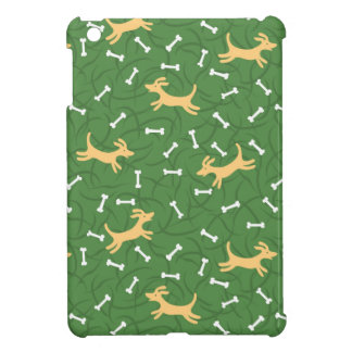 lucky dogs with bones background iPad mini case