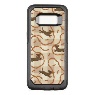 lucky dogs with sausages background OtterBox commuter samsung galaxy s8 case