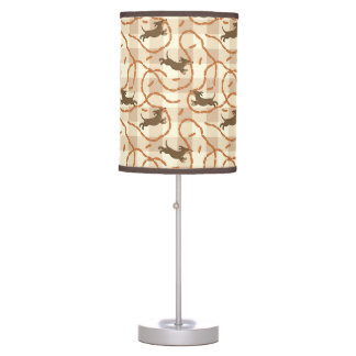 lucky dogs with sausages background table lamp