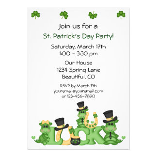 Lucky Dragons St Patrick s Day Party Invitation