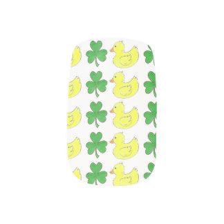 Lucky Duck Green Shamrock Rubber Ducky Duckie Nail Minx Nail Art