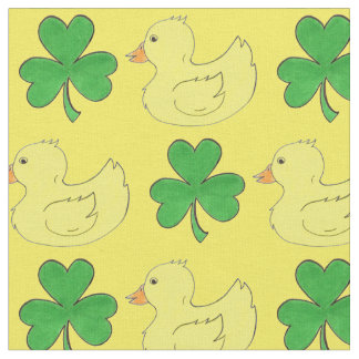 Lucky Duck Saint St. Patrick's Day Shamrock Fabric