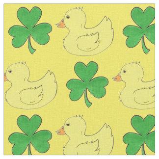 Lucky Duck Saint St. Patrick's Day Shamrock Fabric