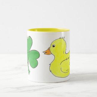Lucky Duck Shamrock Ducky Saint Patrick's Day Mug