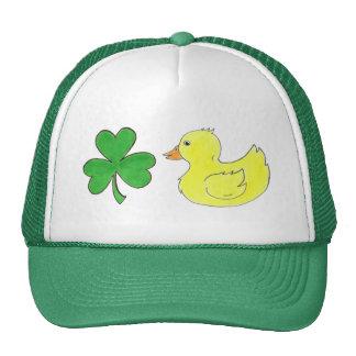 Lucky Duck Shamrock Ducky St. Patrick's Day Hat