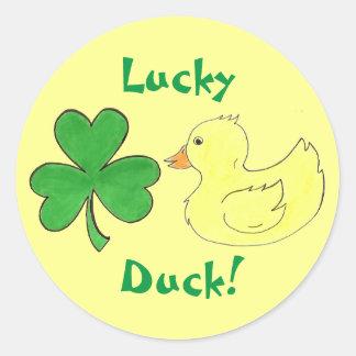 Lucky Duck Shamrock Ducky St. Patricks Day Sticker