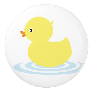 Lucky Ducky Ceramic Knob